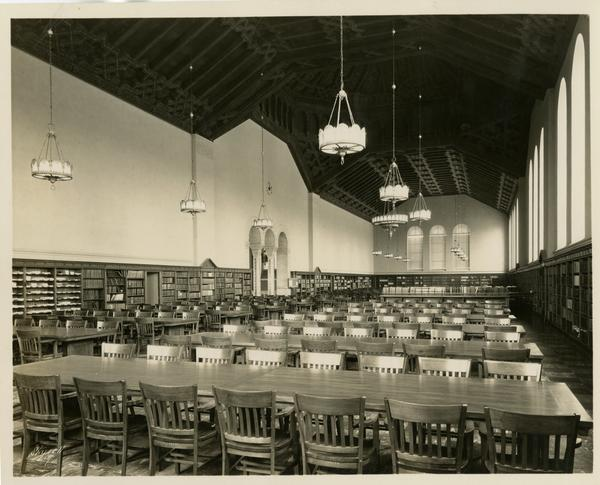 View of Powell Library reading room