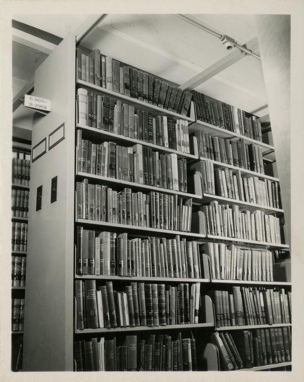 Interior library stacks
