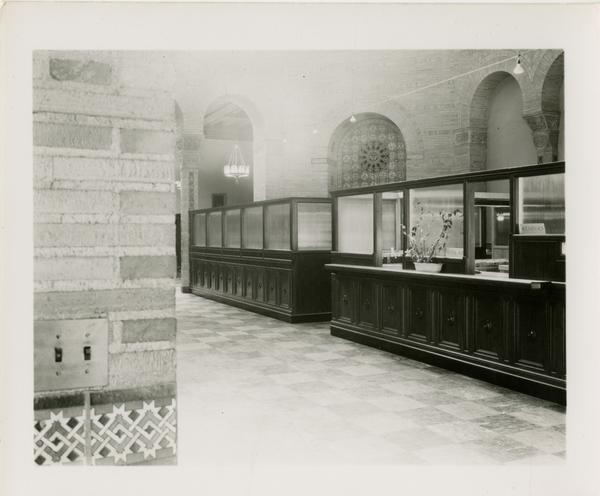 Reference desk in the UCLA Library