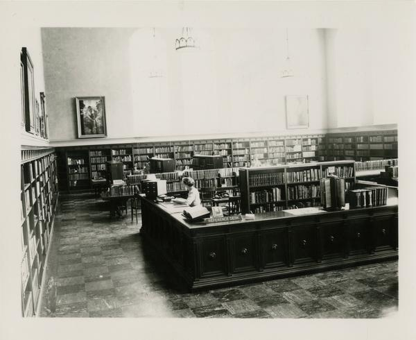 Library staff in the reading room of Powell
