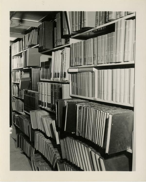 Interior Powell Library stacks