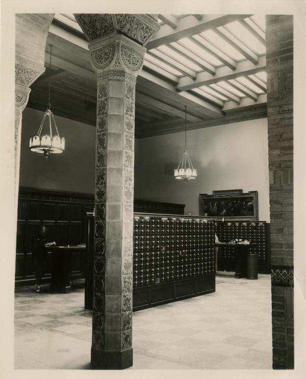Catalog cards in Powell Library