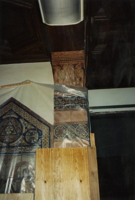 Pillar renovation at Powell Library