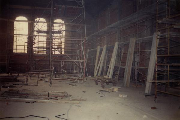 Renovations of the main reading room in Powell Library