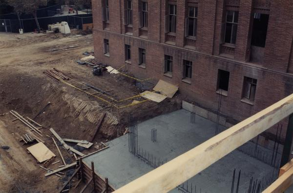 Exterior renovation of Powell Library
