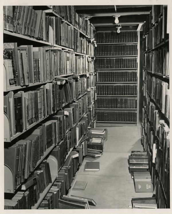 Interior Powell Library stacks