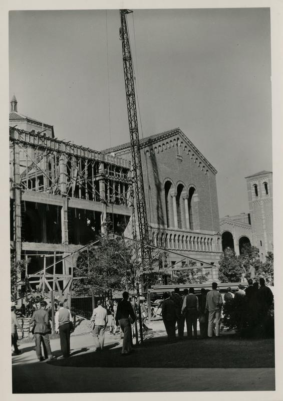 Construction of Powell Library stack extension