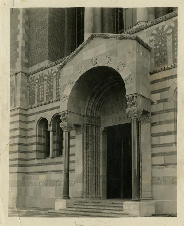 UCLA Powell Library entrance, ca. 1929
