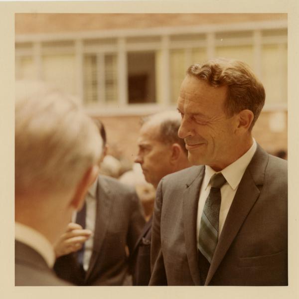 John Knutson at dedication of School of Public Health building, October 4, 1968