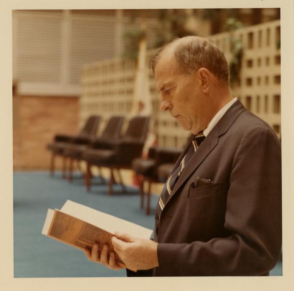 Chancellor Murphy at School of Public Health building dedication, October 4, 1968