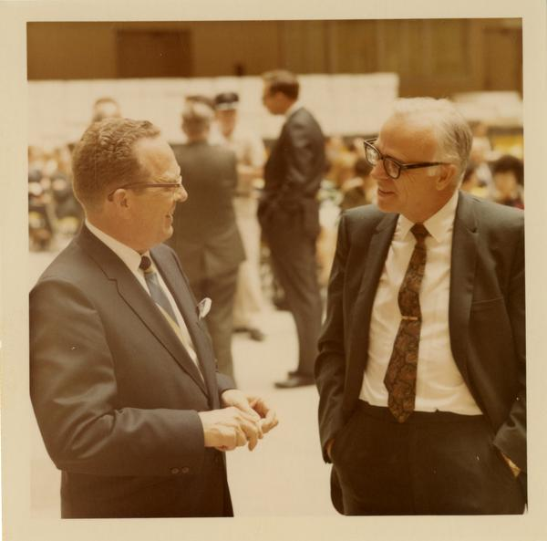 John Chapman and A.C. Hollister from the State Health Department, October 4, 1968