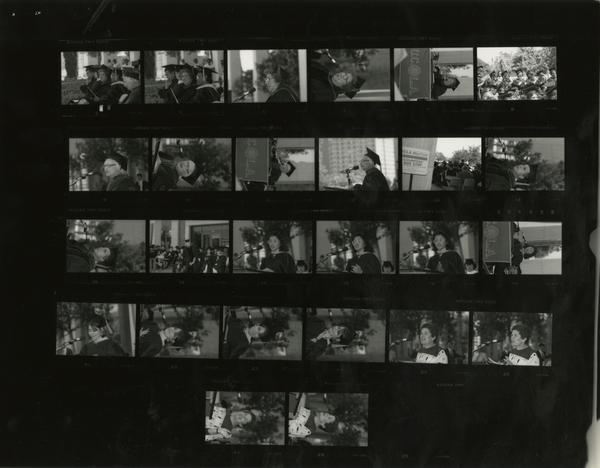Contact sheet of School of Public Health graduation, June 14, 1987