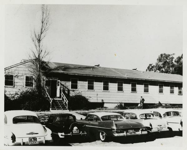 Original building for the School of Public Health. Also Student Health Center at one point, ca. 1946-1956