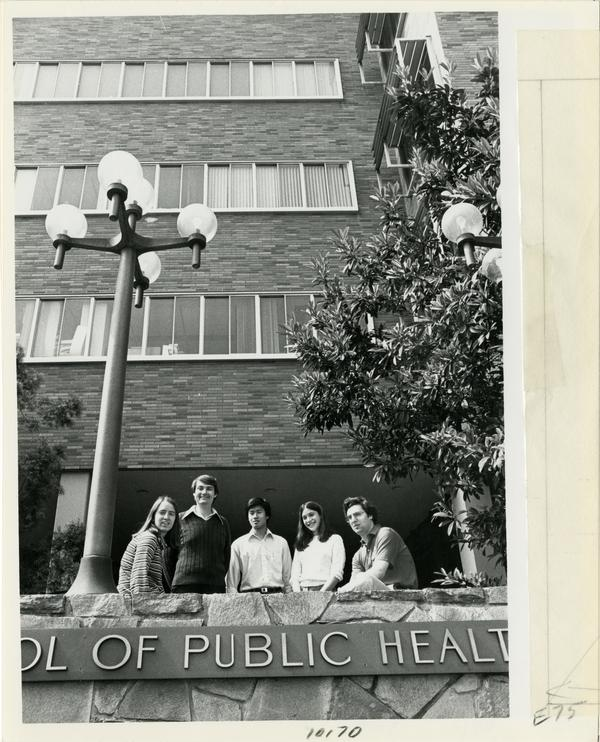 Students standing outside of School of Public Health