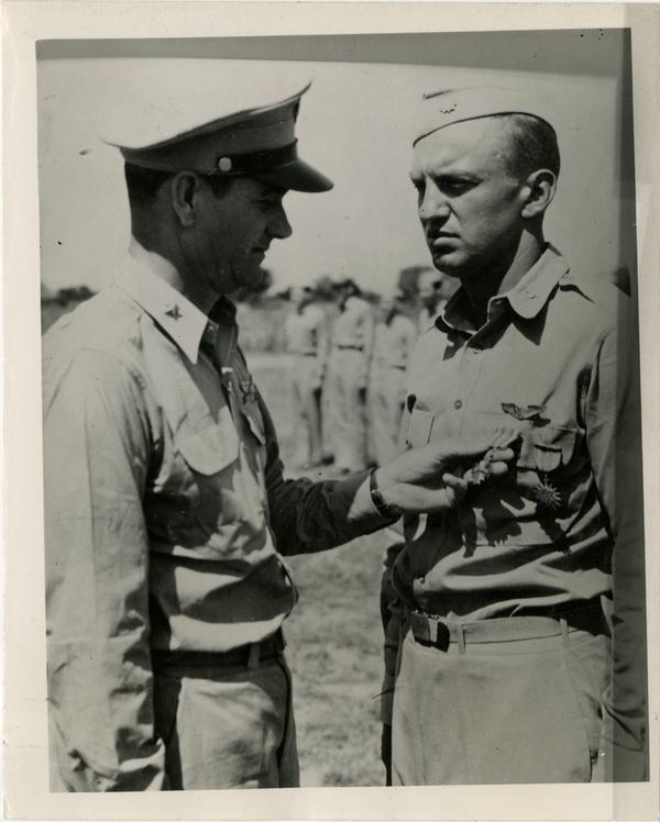 Burleigh wearing Distinguished Flying Cross