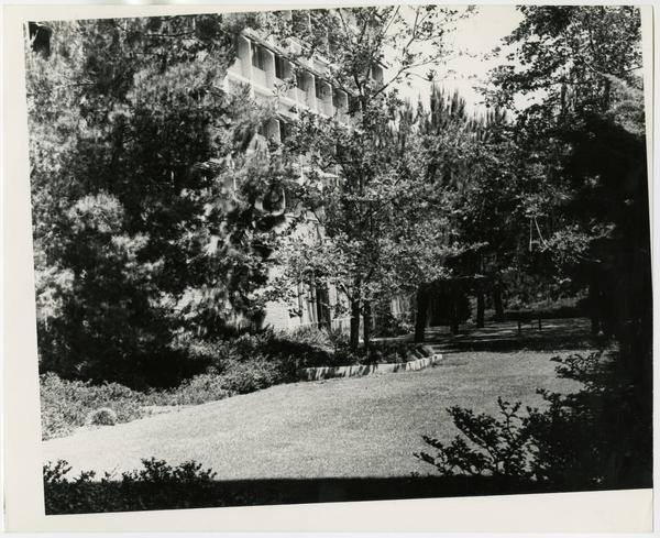 Exterior view of one of UCLA residence hall