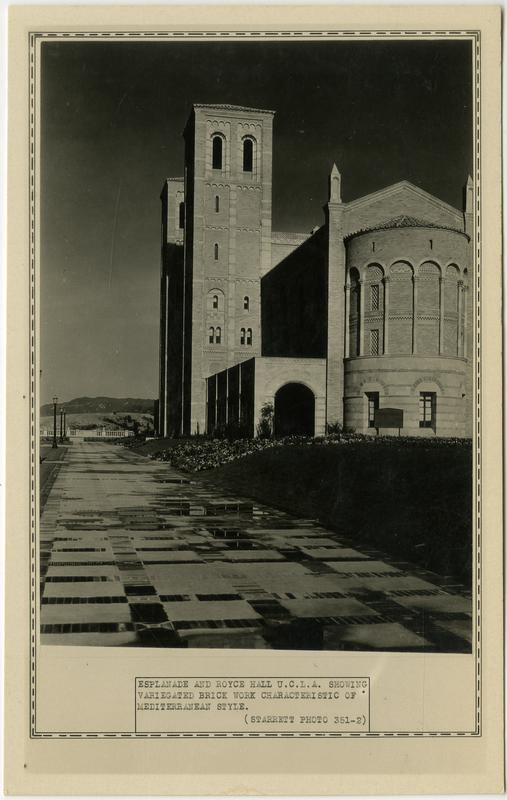 Royce Hall from Balcony of esplanade