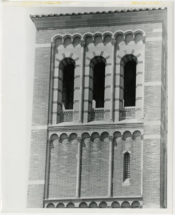 View of one of Royce Hall's towers