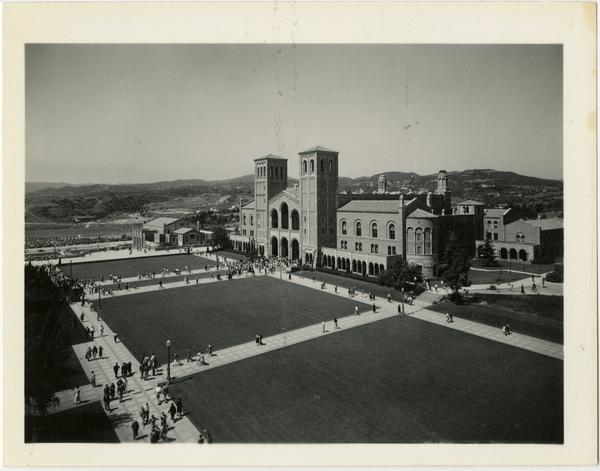 Looking towards Royce Hall from the Humanities building, 1934