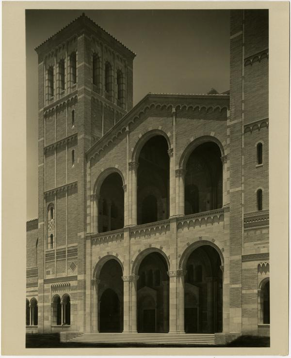 View of Entrance Loggias and Towers of Royce Hall
