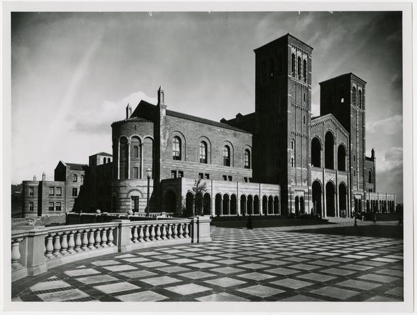 View of Royce Hall from top of Janss Steps