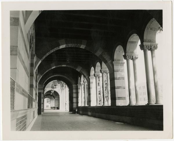View of Royce Hall arcade