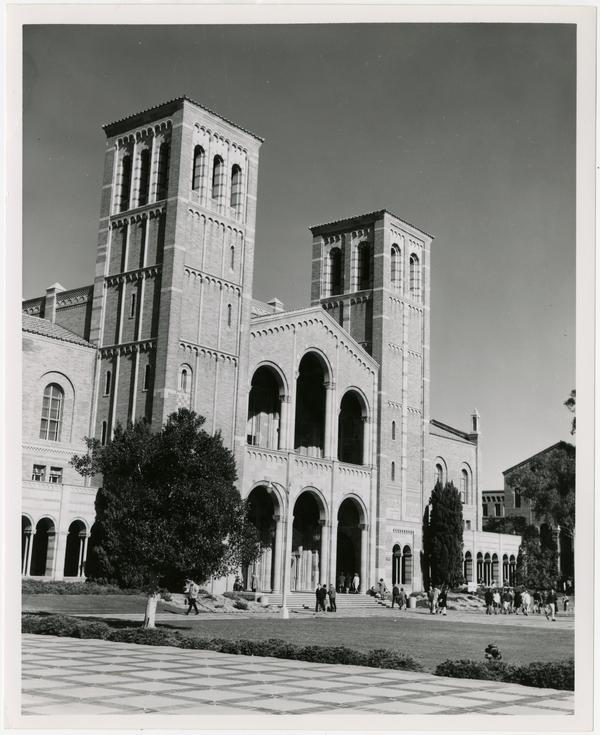 View of Royce Hall, January 6, 1965