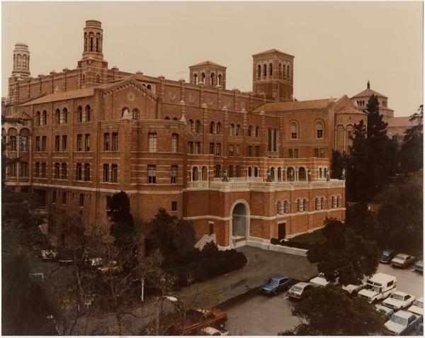 West side of Royce Hall and parking lot