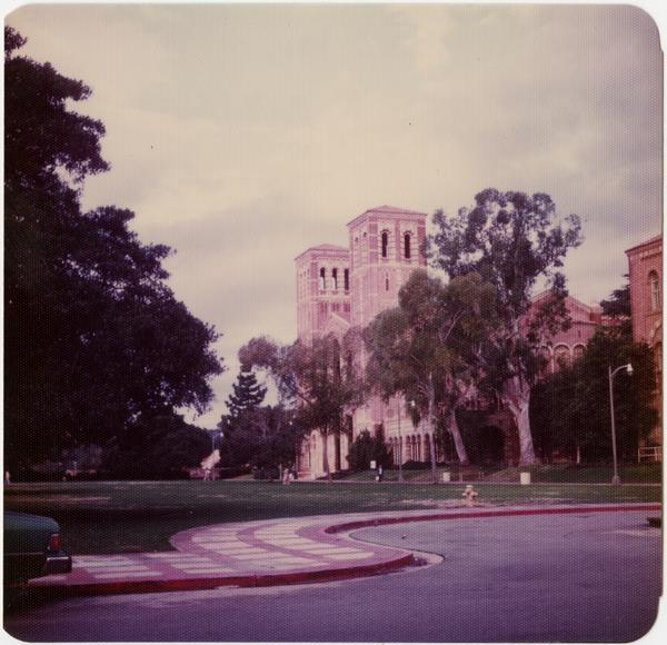 View of Royce Hall and quad, ca. April 1979
