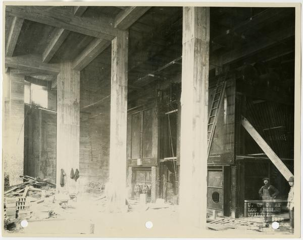 Interior view of Royce Hall utilities, June 1, 1928