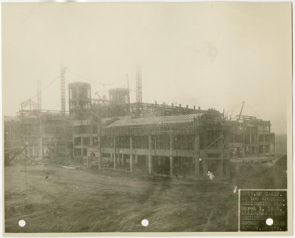 Royce Hall during construction, March 1, 1928
