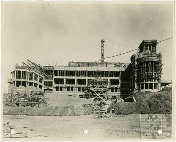 Royce Hall during construction, March 15, 1928