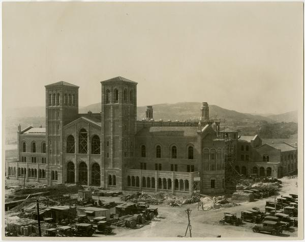 Royce Hall during construction