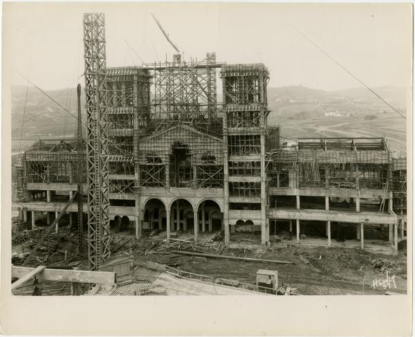 Royce Hall during construction, March 4, 1928
