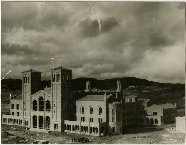 Royce Hall during construction, December 1929