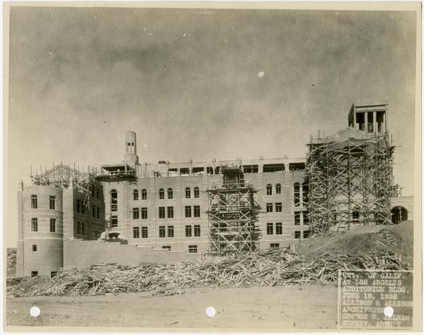 Royce Hall under construction, June 15, 1928