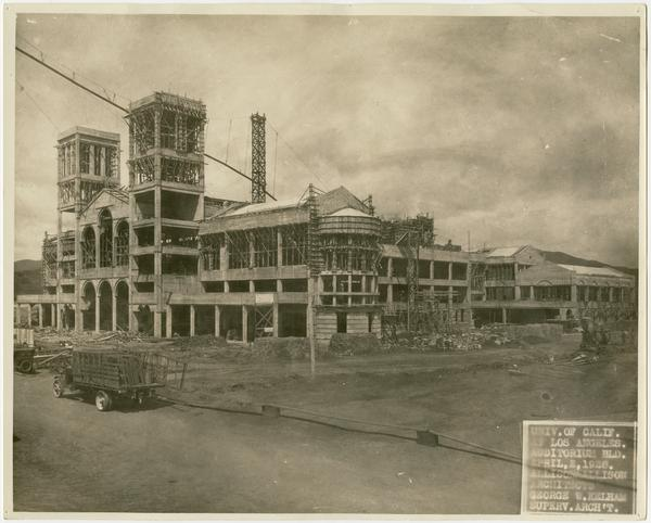 Royce Hall under construction, April 2, 1928