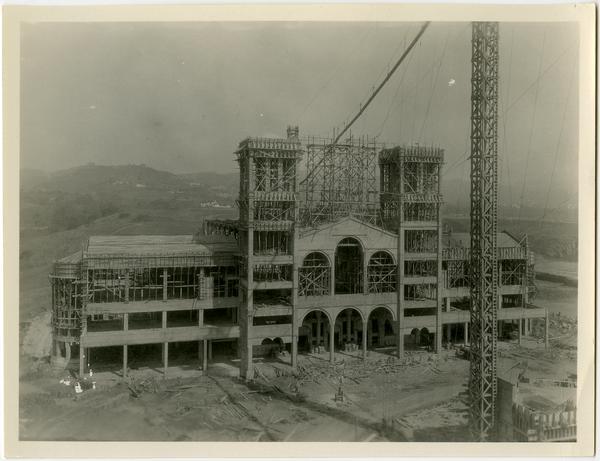 Royce Hall under construction