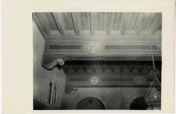Royce Hall Foyer Ceiling ca, 1929