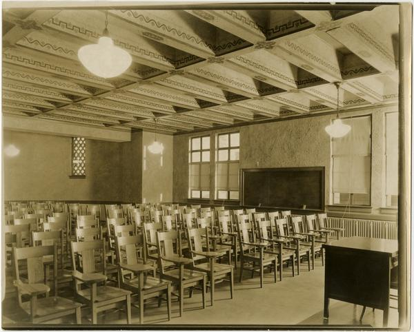 View of classroom in Royce Hall, ca. 1930