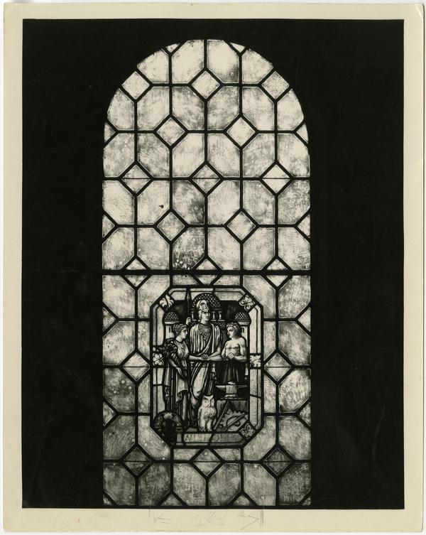 Royce Hall stained glass window, ca. 1929