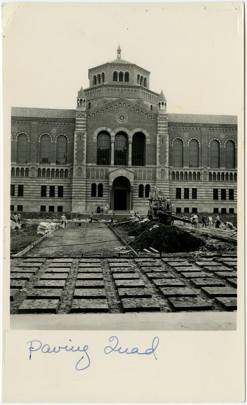 Paving of quad in front of Royce Hall