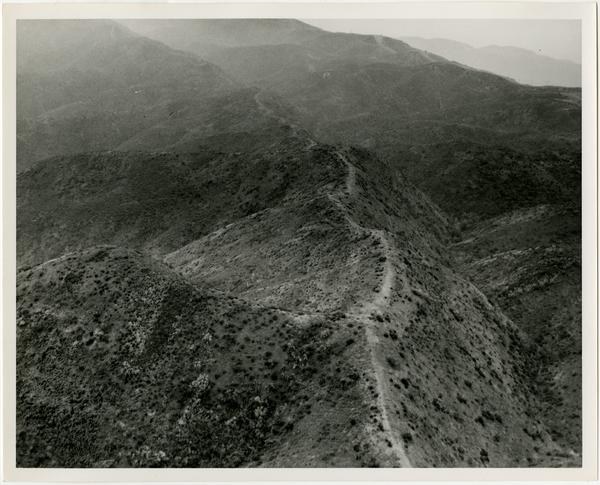 View of trail in Santa Monica Mountains