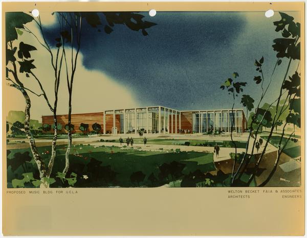 Architectual rendering of Schoenberg Hall
