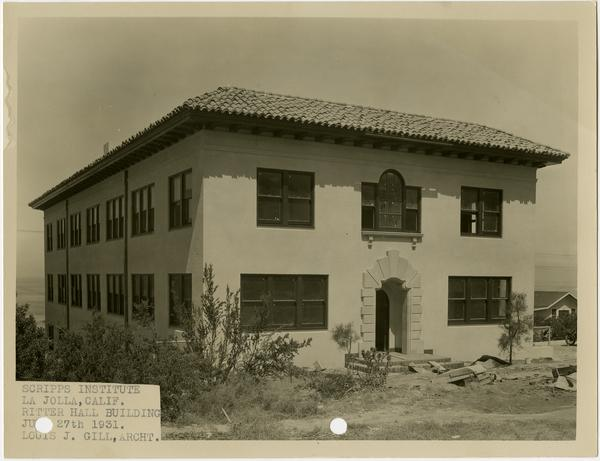 Ritter Hall building of Scripps Research Institute, ca. 1931