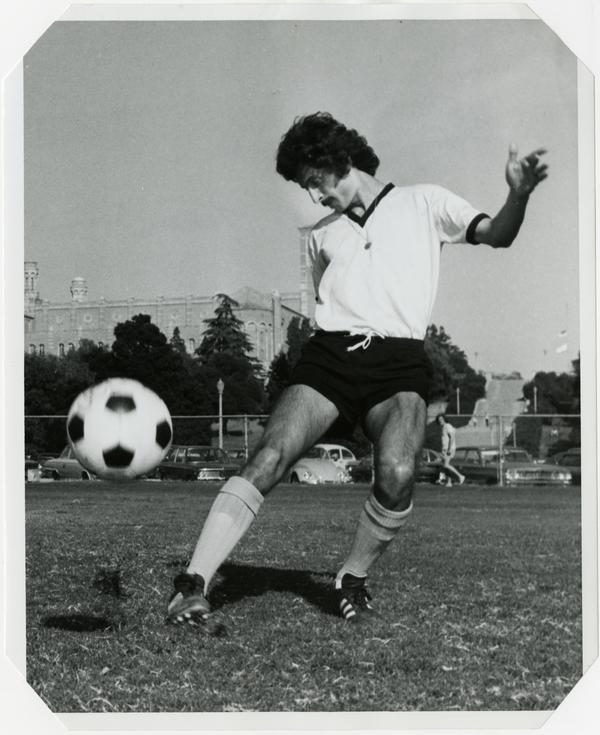 UCLA soccer forward, Firooz Fowzi, ca 1974