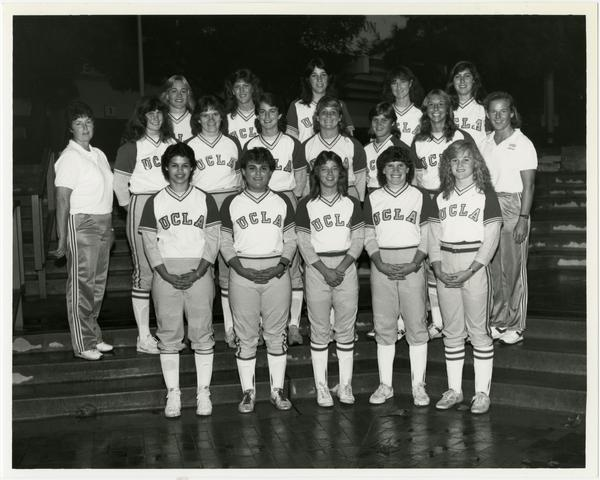 UCLA NCAA championship softball team portrait, 1984