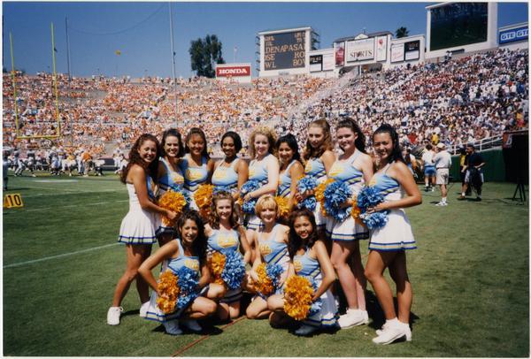 Photo of Spirit Squad on field
