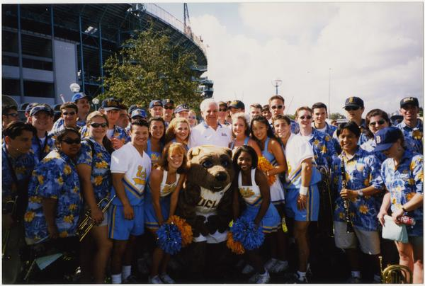 Spirit Squad posing with mascot