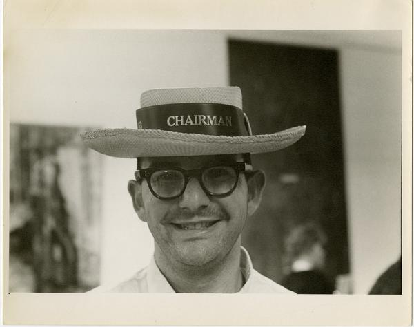 Chairman at Spring Sing, ca. 1963